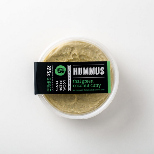 Thai Green Coconut Curry Hummus | By Bobali Foods