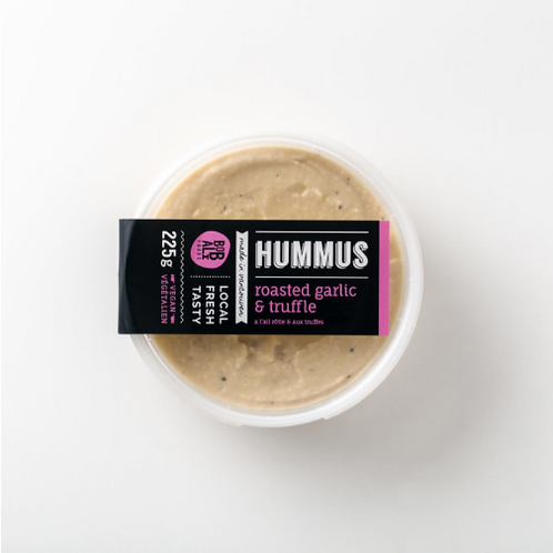 Roasted Garlic & Truffle Hummus | By Bobali Foods
