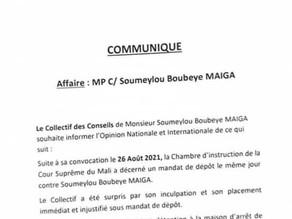 Le Collectif des Conseils pour la défense de Soumeylou Boubeye MAIGA #SMB communique !!