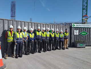 Construction site visit for 6th years