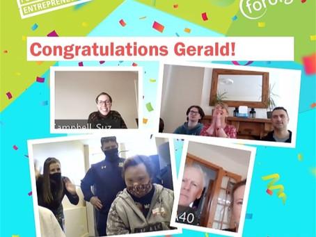 Congratulations to Gerald O'Regan on amazing NFTE Award