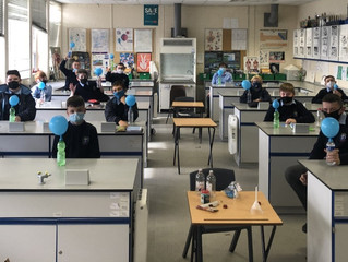 1st Years have fun experimenting