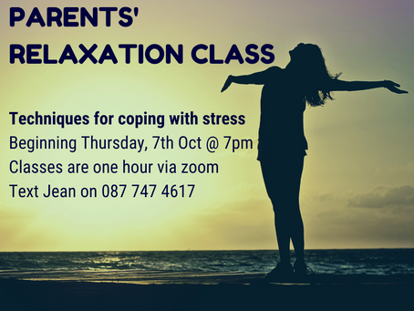 Free Relaxation, Cookery & Fitness Classes for Parents