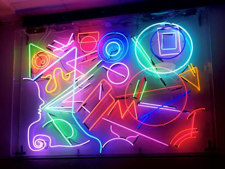 Dazzling neon-glass installation attracts media attention