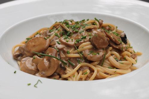 Massa c/ Cogumelos Strogonoff // Mushroom pasta