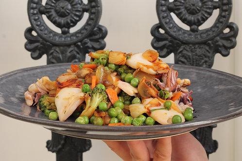 LULAS com Legumes Teriyaki // Squid w/ Teriyaki Vegetables