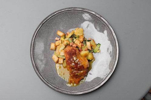 PORCO com Molho Mostarda //Roast Pork w Mustard Sauce