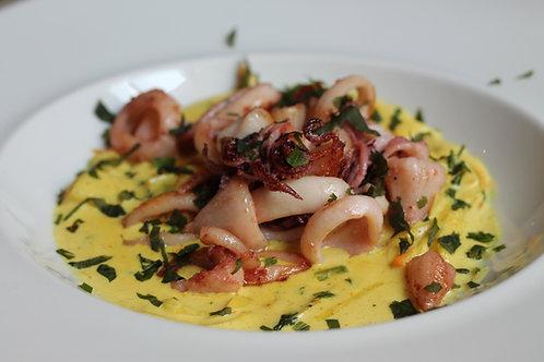 LULAS com Suave Caril de Legumes // Squid w/ Mild Curry