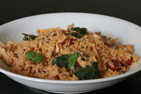 Menu ARROZ ou MASSA / entrada + arroz ou massa + sobremesa + bebida
