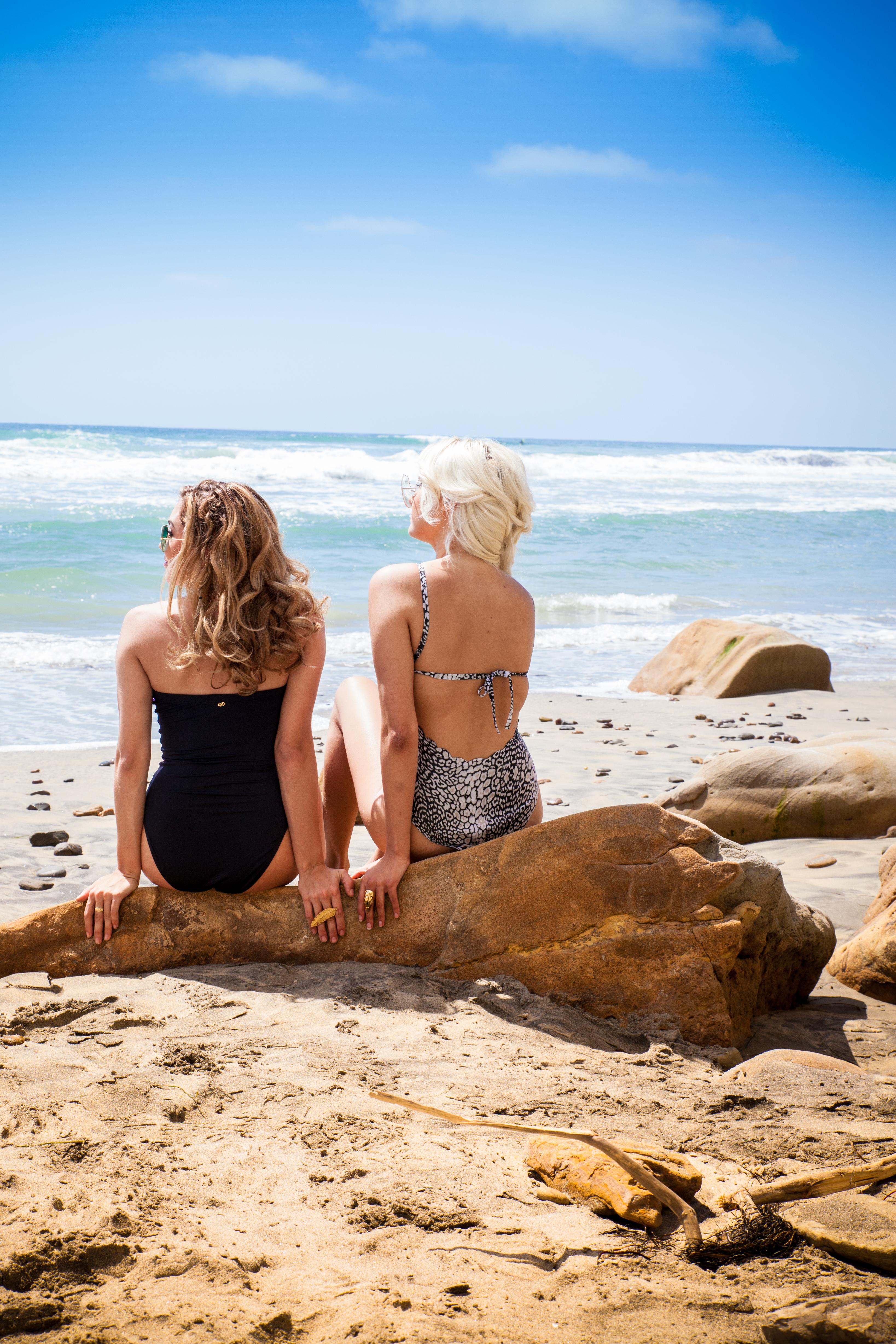 women at the beach