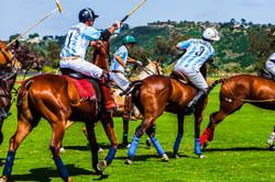 men playing polo
