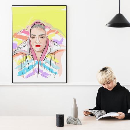Yellow tone - portrait libre Claire Laffut