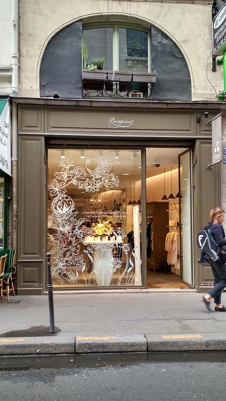 """Vitrine """"Collection Home"""", Bonpoint, boutique Saint Honoré Paris - 2019"""