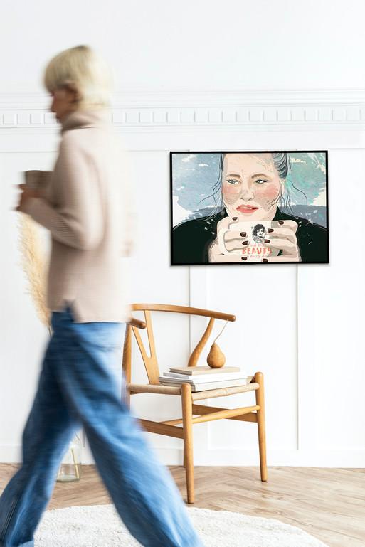 Coffee time - portrait libre