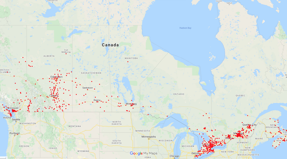 Canada Wide Coverage
