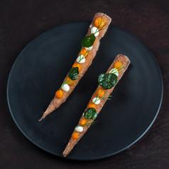 Crispy carrot snack