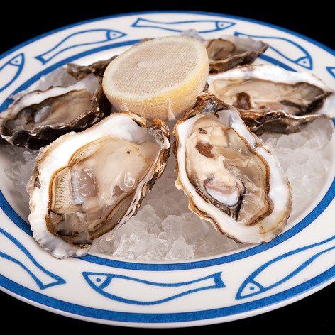 Six Cumbrae oysters over crushed ice