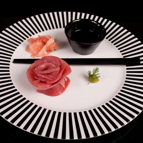 Sashimi of Yellow fin tuna