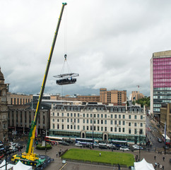 Hanging around in George Square, Glasgow