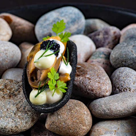 Snack - Poached Shetland Mussel