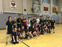 LISC Badminton Clinic at THHS