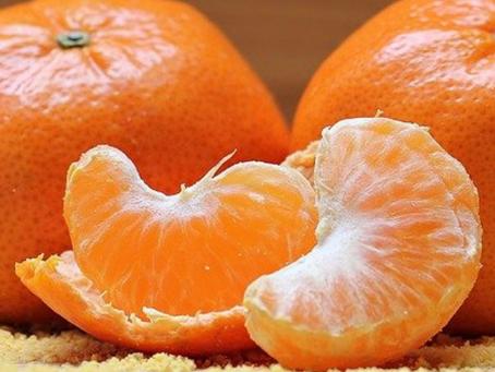 Tangerina - Atua na melhora do Colesterol sérico e níveis de Insulina.