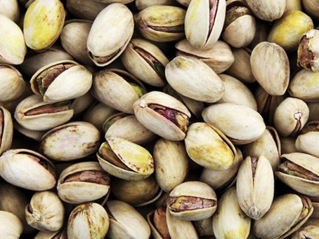 Pistache - Melhora noveis de Colesterol e tem aumenta a massa Muscular.
