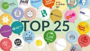 TOP 25 bei startsocial-Wettbewerb