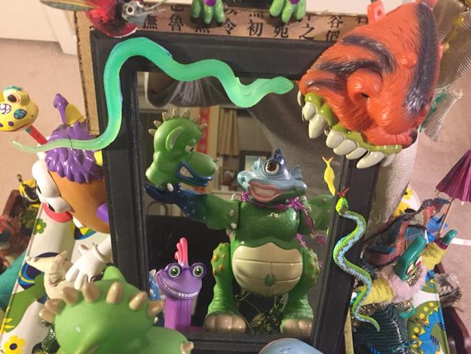 Little Monsters (detail), 2017
