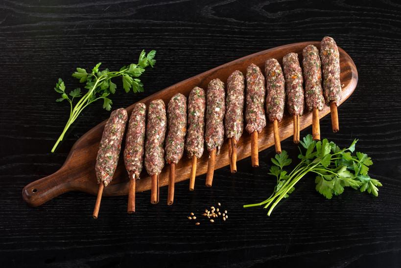 Kebab on Cinnamon Sticks