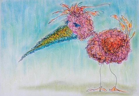 ציפור ורוד