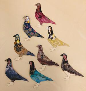 Pigeon goddess puppets
