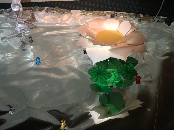 Lotus in the mirror pond (detail), 2019