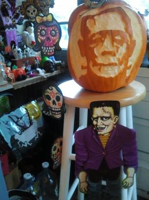 Frankenstein pumpkin, 2012