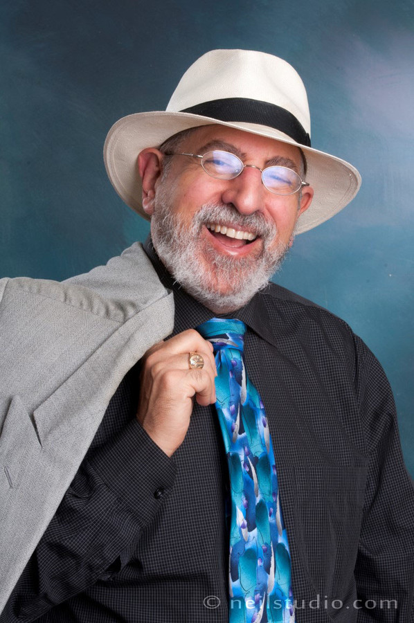 Blue Tie and Fedora