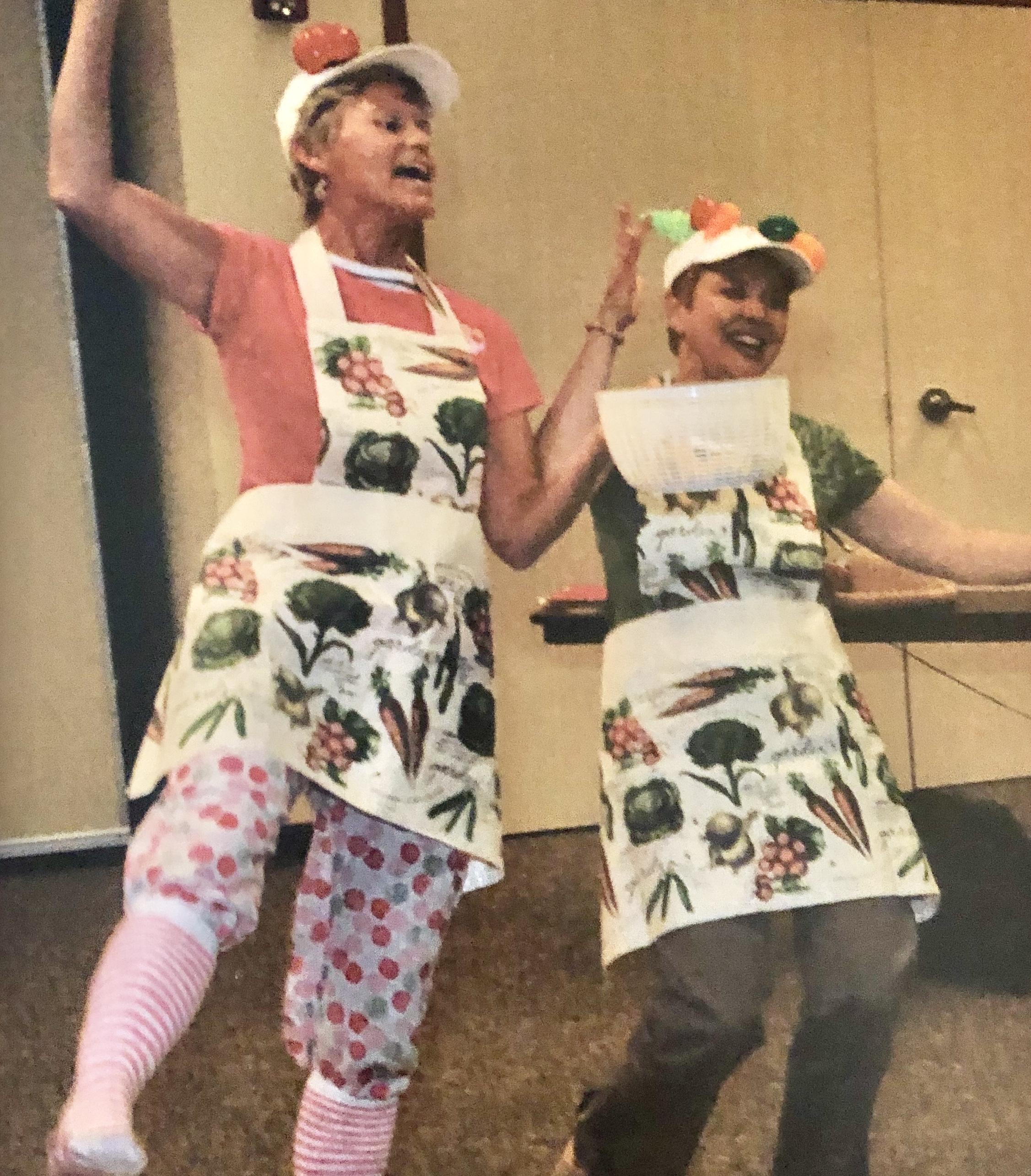 """""""Salad Sisters"""" Nancy & Lynne, 2010"""