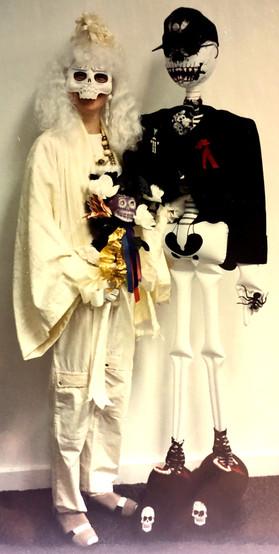 Skeleton bride & groom, 1995