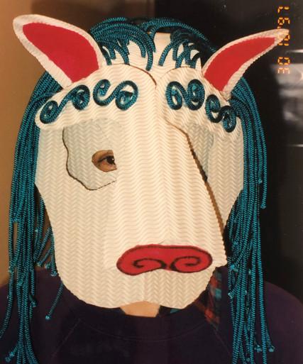 Snow Lion mask, 1997