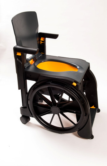 Foldable plastic wheelchair toilet