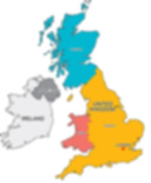 UK map for DYSIS Clinics