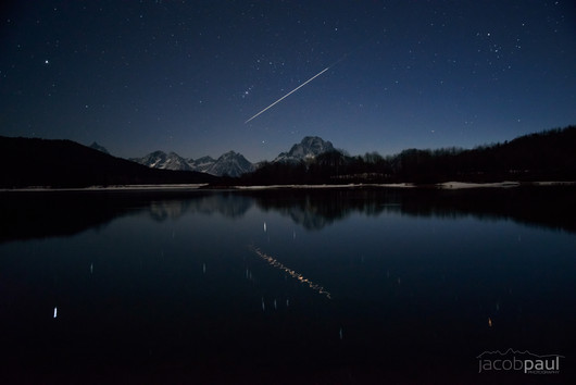 Lyrid Meteor Over Oxbow