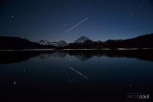 Lyrid Meteor Over Oxbow