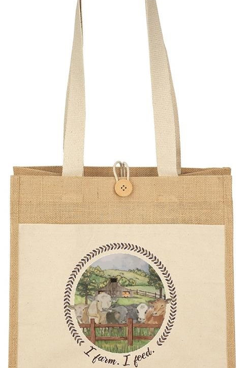 I Farm. I Feed. BEEFoundation Tote Bag