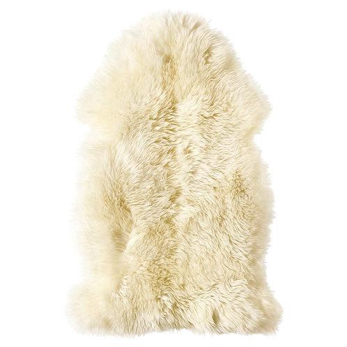 Sheepskin ivory white long hair. CUE04