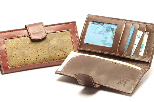 "Ladies"" Grained"" wallet, double-folder design . BILL 66"