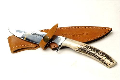 Long 'Verijero' knife with deer antler handle. CUCH 06