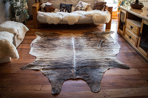 """""""Brindle"""" Short hair cowhide rug. CUE 02A"""