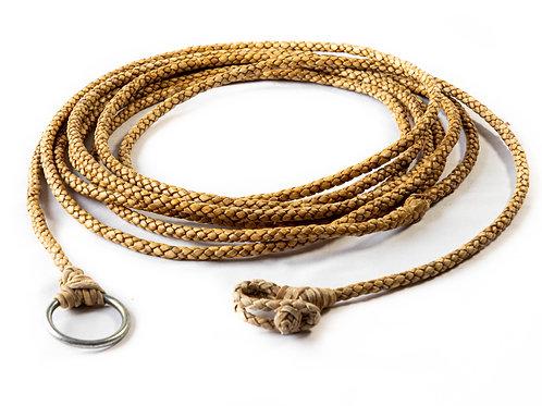 4 strand braided rawhide riata. LAZ 02