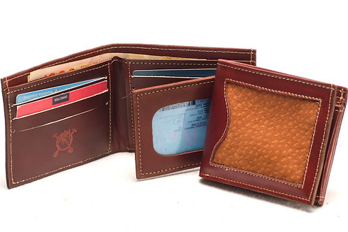 """Men's  """"Capybara"""" wallet with double card slot and window ID section. BILL 48"""