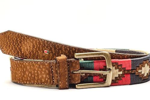Fully embroidered capybara polo belt. CIN 38